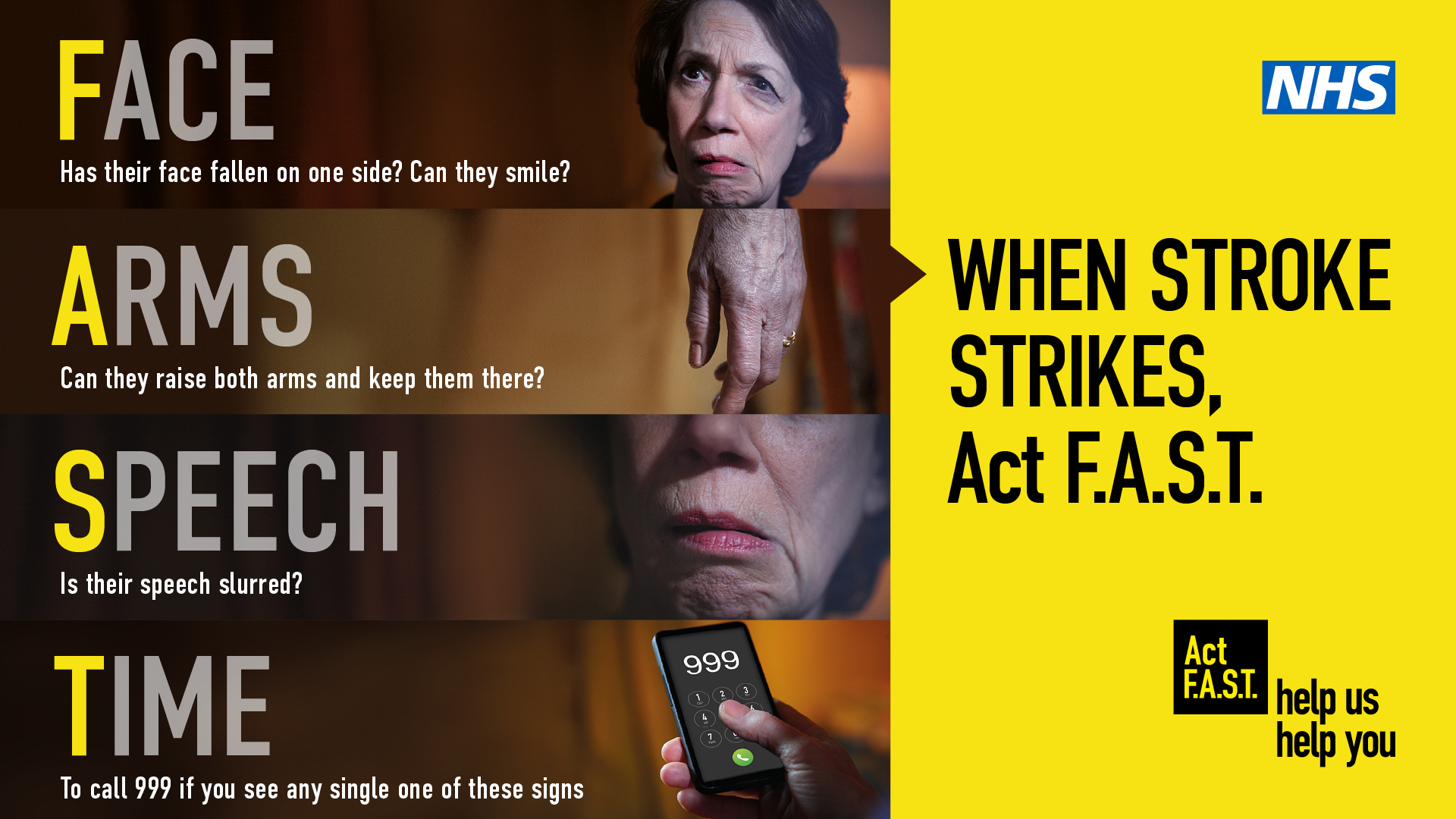 Act F.A.S.T.'  (Face, Arms, Speech, Time)